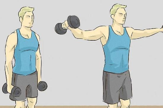 حرکت سرشانه با دمبل از بغل را تمرین کنید